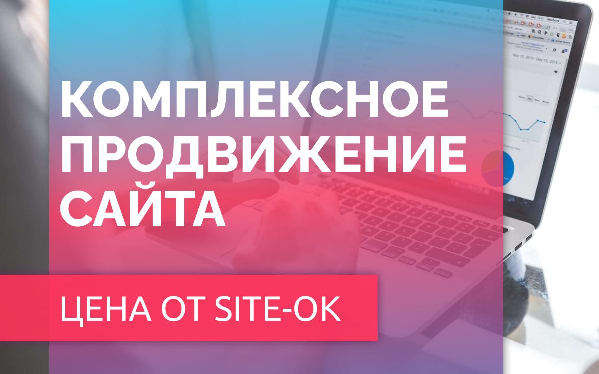 Комплексное продвижение сайта цена, которая подходим к каждому находится в компании «Site Ok»